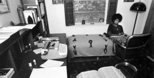 Alice Walker in her home