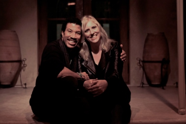 Beverly Keel with music industry giant Lionel Richie.