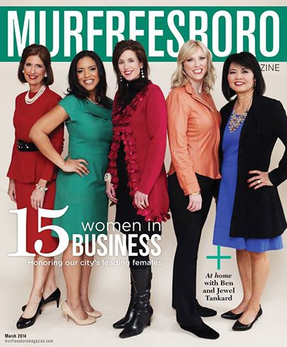 Murfreesboro Magazine cover featuring Beverly Keel