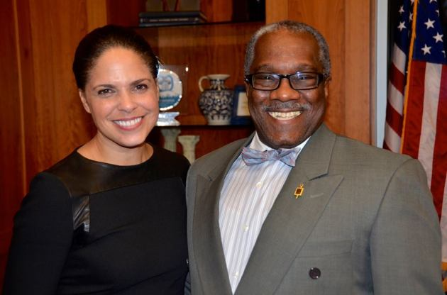 Soledad O'Brien and Dwight Brooks