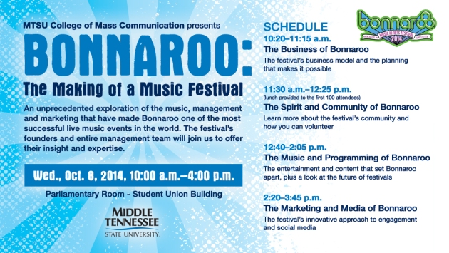 Bonnaroo Seminar Schedule