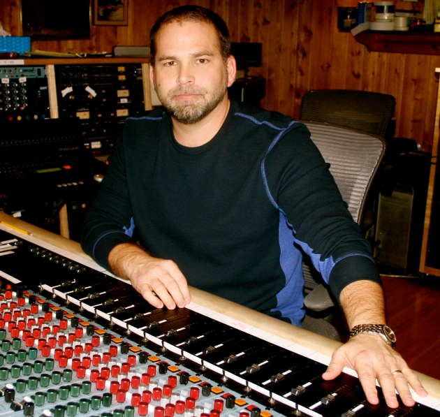 Michael Knox in the studio