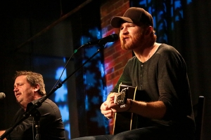 Dylan Altman and Eric Paslay tearing it up at The Listening Room Café, Nashville.