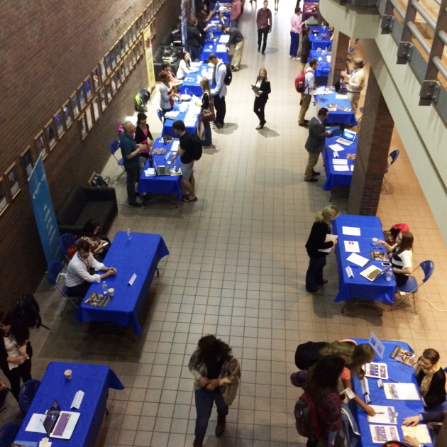 Career Fair 2015 overlooking