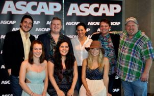 "ASCAP recently held a private showcase at its offices for Nashville music publishers showcasing Middle Tennessee State University's commercial songwriting program. Pictured top row, from left, are students Nick Carpenter, Kyle Crownover, ASCAP Vice President LeAnn Phalen, student Zach Russell, MTSU Songwriting Concentration Coordinator Odie Blackmon; bottom row, from left, ""Maybe April"" members Alaina Stacey, Kristen Castro and Katy Bishop. (Submitted photo.)"