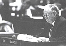 In this undated photo, state Rep. John Bragg of Murfreesboro sits at his desk in the Tennessee General Assembly.