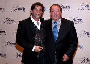 APA Vice President & Recording Industry alum Steve Lassiter (left) with APA President Jim Gosnell (Photo by Rick Diamond/Getty Images for NATD)