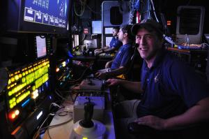 EMC alumnus Ryan Skelley worked for three summers as an intern aboard the Nautilus, and he's now a paid employee.