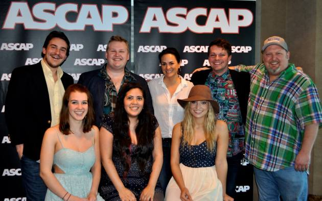 "ASCAP recently held a private showcase at its offices for Nashville music publishers, showcasing COE's Songwriting Program. Student writers Nick Carpenter, Zach Russell, Kyle Crownover and group ""Maybe April"" performed. Publishing companies in attendance were Sony/ATV, Warner Chapel, BMG, Sea-Gayle Music, Creative Nation and Round Hill. Pictured are (top row) Nick Carpenter, Kyle Crownover, ASCAP VP LeAnn Phalen, Zach Russell, MTSU Songwriting Concentration Coordinator Odie Blackmon. (Bottom row) Maybe April's Alaina Stacey, Kristen Castro and Katy Bishop."