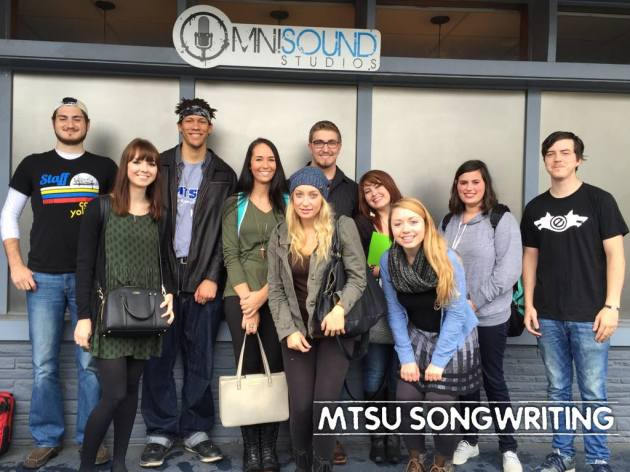 Songwriting students