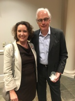 Deborah Fisher, current interim director of the Seigenthaler Chair of Excellence in First Amendment Studies with scholar and MTSU's 2016 Scholars Week keynote speaker Bill Ivey.