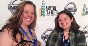 EMC Assistant Professor Allie Sultan (right) with the subject of her documentary short, Jenny Lutkins.