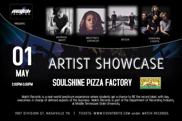 Artist Showcase 2016 poster