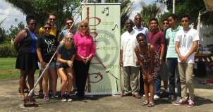 Students visit the Belizean Society of Composers, Authors & Publishers.