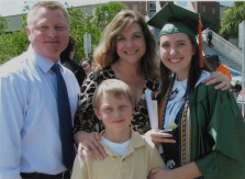 Eschenfelder and her family at her daughter's high school graduation.