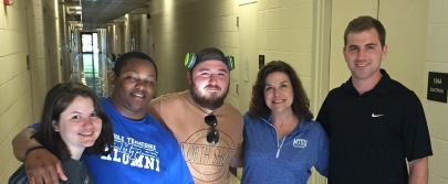 Christine and some of her MTSU students