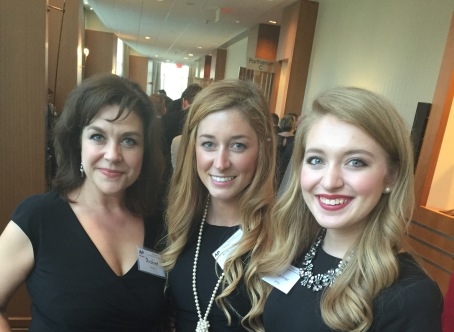 Christine at the TN AP Awards with students Annie Hobbs and Katie Inman.jpg