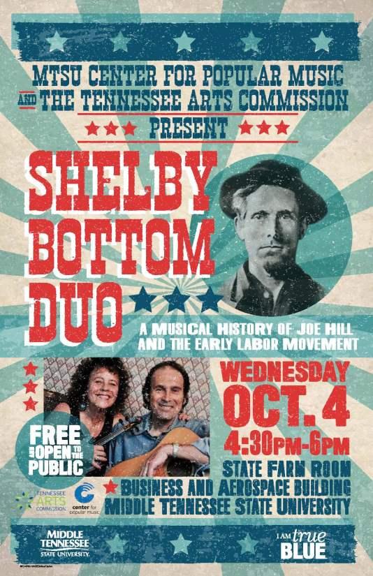 MTSU flyer Shelby Bottom Duo